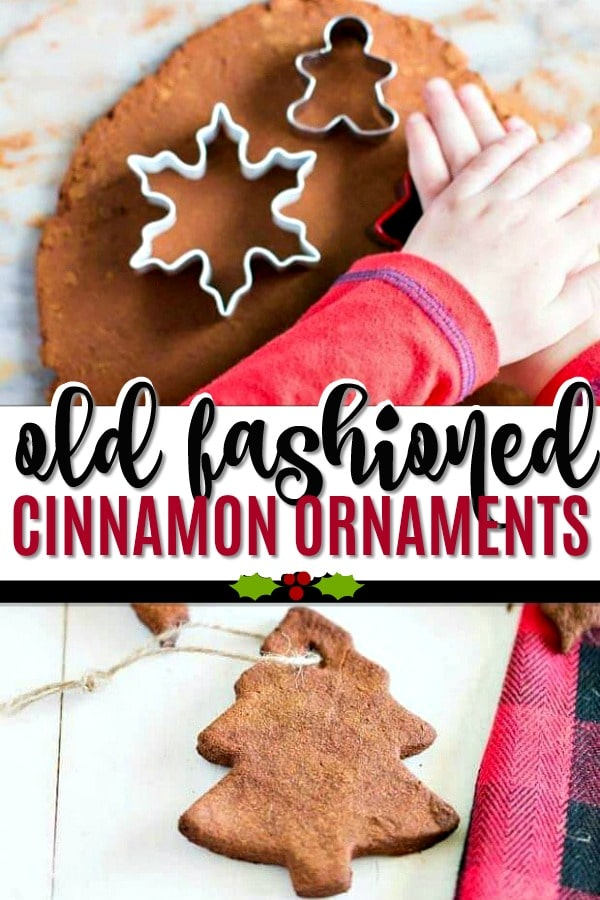 These Old Fashioned Cinnamon Ornaments are the perfect Christmas craft for kids!