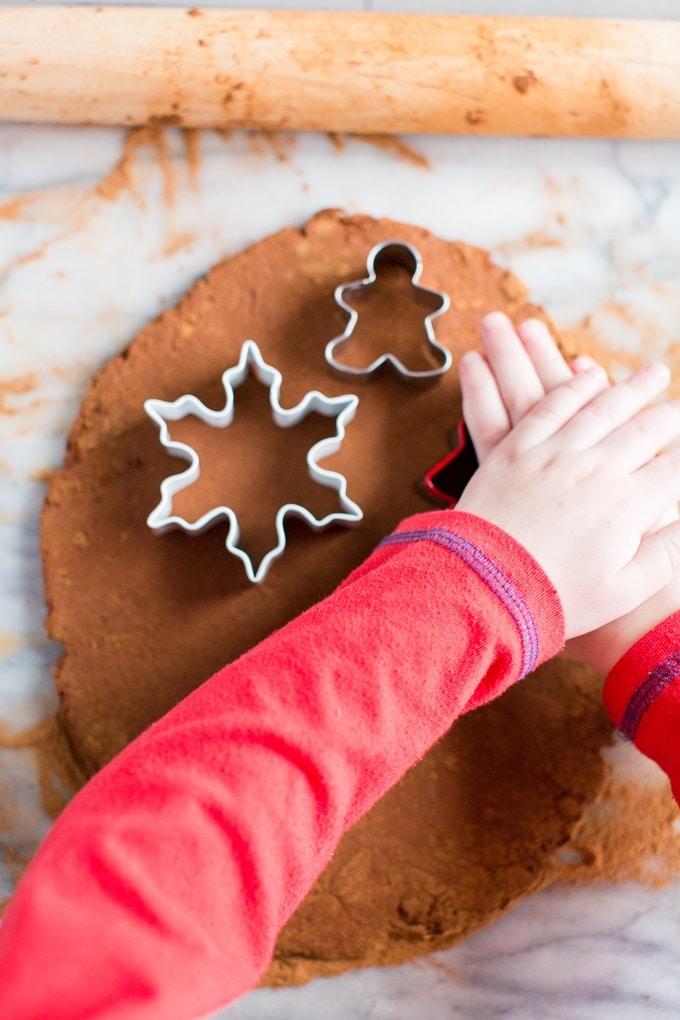 Cutting Cinnamon Ornaments