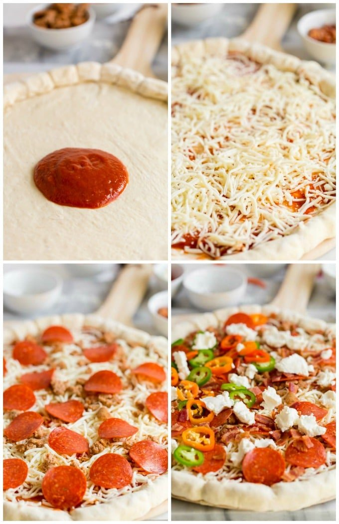 Toppings for a Stuffed Crust Pizza