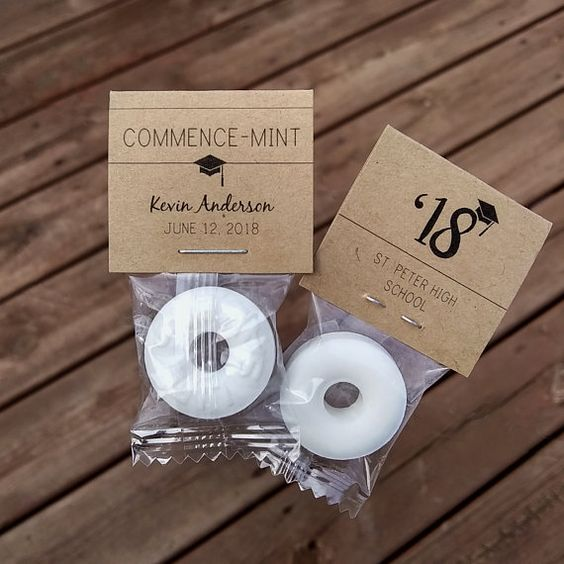 Commence Mints for Graduation Party Favors via ETSY | 19 Graduation Party Favor Ideas
