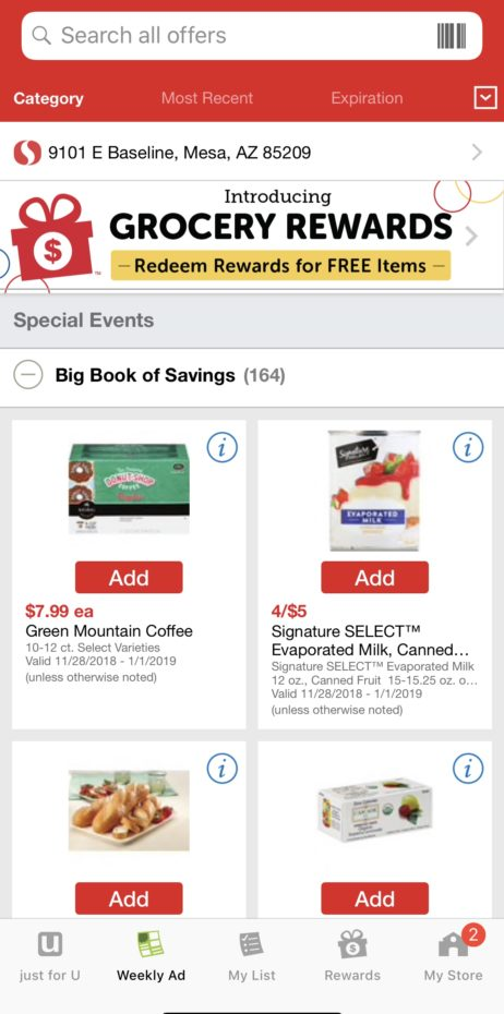 Coupon Savings Available at Safeway