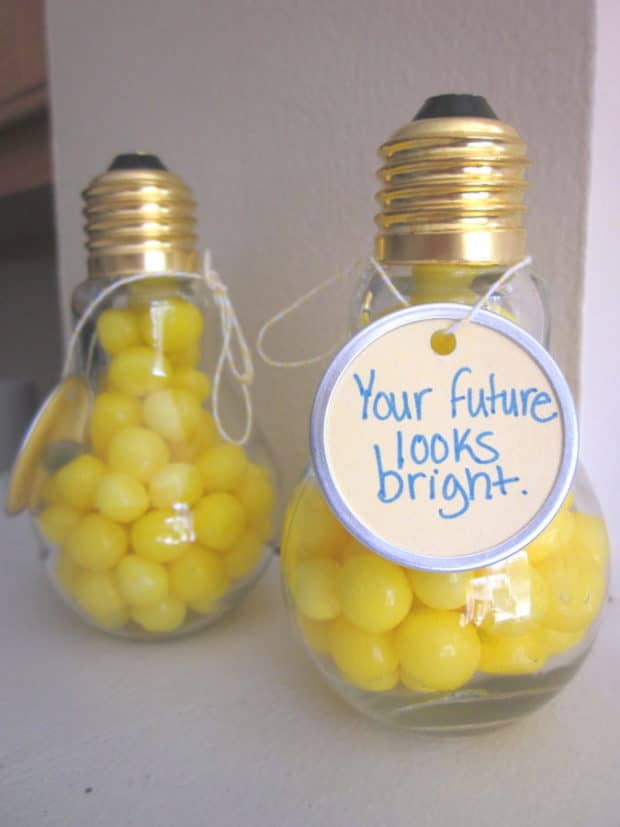 Graduation Light Bulb Favor by Embellishing Life Everyday | 19 Graduation Party Favor Ideas