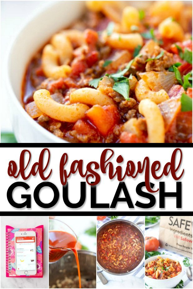 Bowl of goulash into a collage