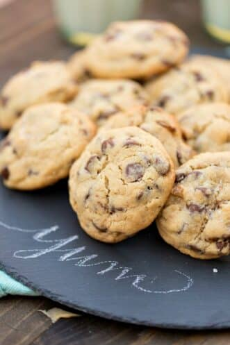 doubletree cookies on a black plate