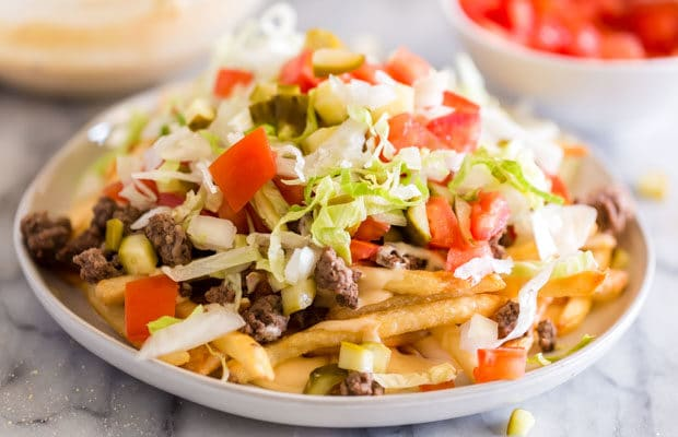 Loaded Cheeseburger French Fries