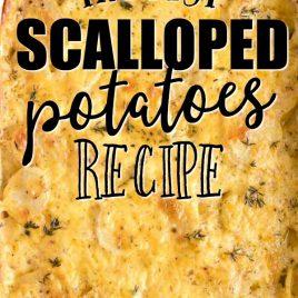calloped potatoes in casserole dish