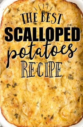 calloped potatoes in casserole dish