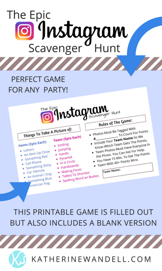 Epic Instagram Scavenger Hunt by Katherine Wandell | Awesome Teen Birthday Party Ideas!