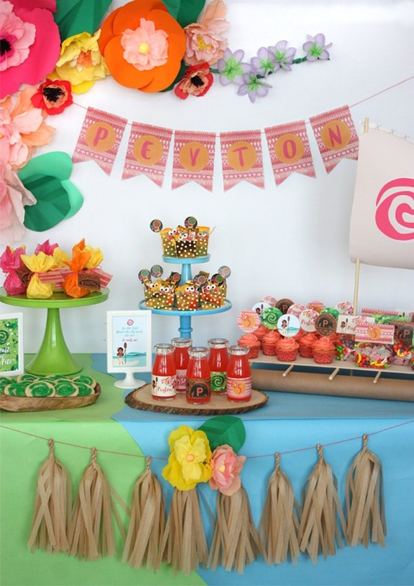 Fabulous Moana Themed Birthday Party | The best Moana Birthday Party Ideas