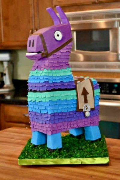 fornite lama birthday cake
