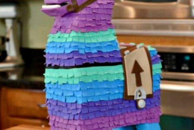 fornite lama birthday cake