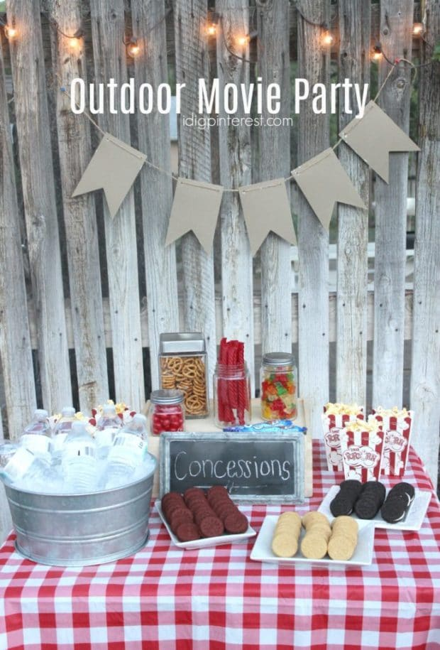 Food on a table, with Party and Idea