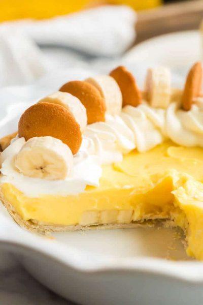 Easy Banana Pudding Pie