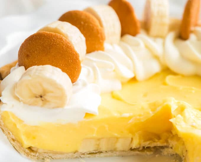 Easy Banana Pudding Pie
