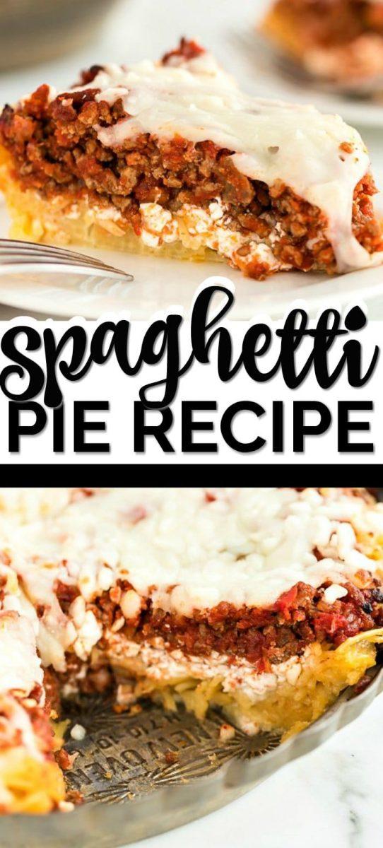 Spaghetti Pie Recipe Pin