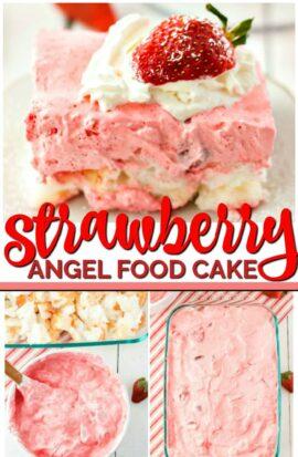 STRAWBERRY ANGEL FOOD CAKE RECIPE