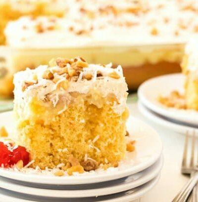 slice of hawaiian wedding cake