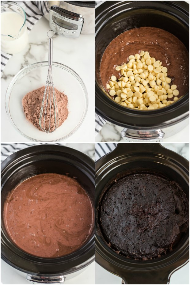 steps for making chocolate cake in slow cooker