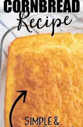 dish of cornbread