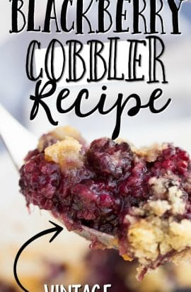 BLACKBERRY COBBLER ON A SPOON
