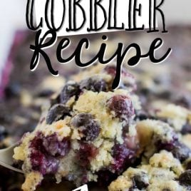 BLUEBERRY COBBLER ON A SPOON