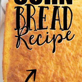 Corn Bread in Casserole Dish