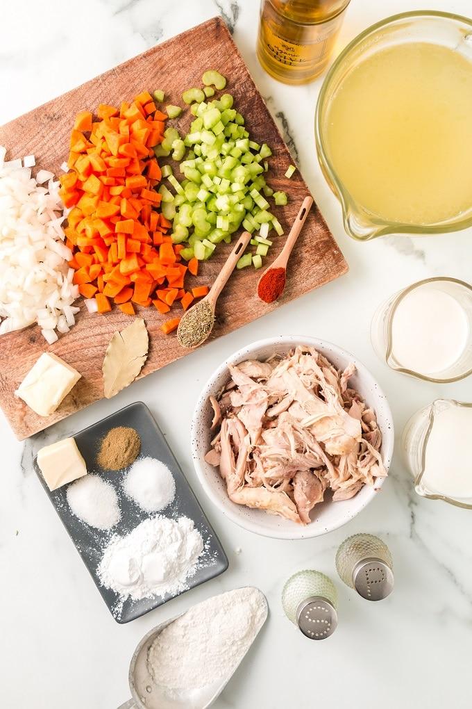 Chicken and Drop Dumplings ingredients