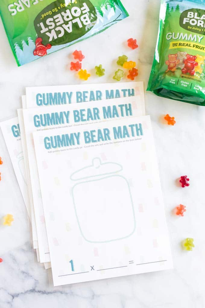 Easy Gummy Bear Math Printable