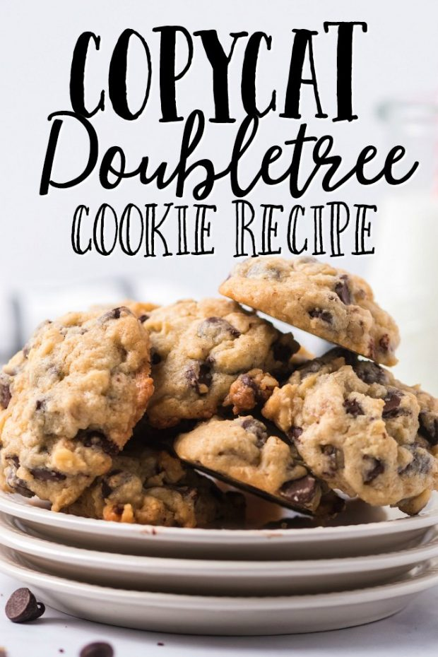 doubletree cookies piled on plates