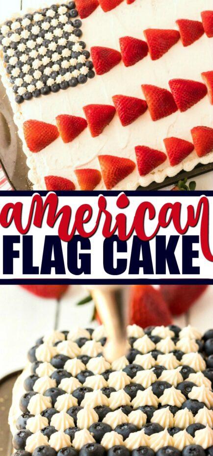american flag cake pin