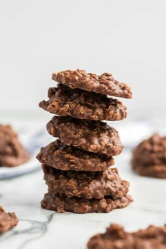no bake cookies stacked