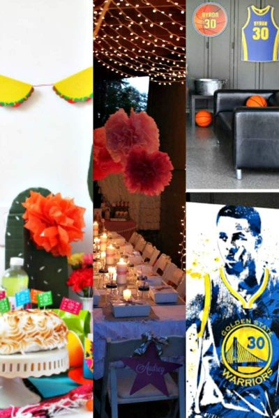 photo collage of teen party ideas