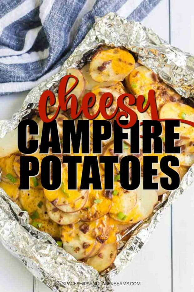 campfire potatoes in foil
