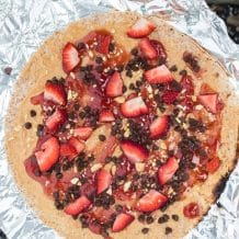 Campfire Dessert Pizza