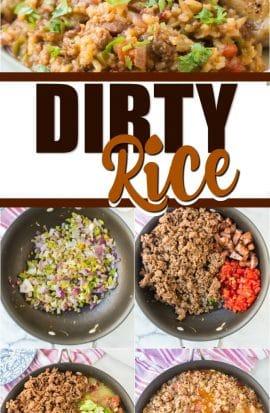 dirty rice pinterest pin