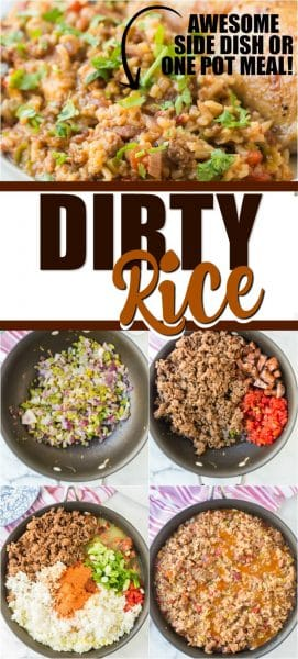 dirty rice pinterest pin