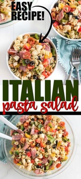 Italian Pasta Salad Pinterest