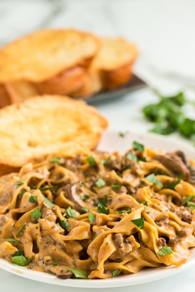 Best Ever Ground Beef Stroganoff