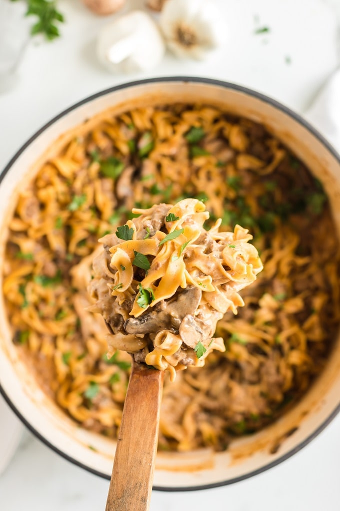 Best Ground Beef Stroganoff