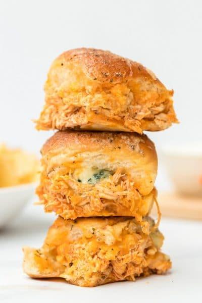 Buffalo Chicken Sliders Recipe Featured