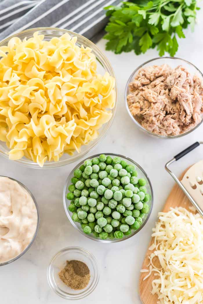Tuna Casserole Ingredients