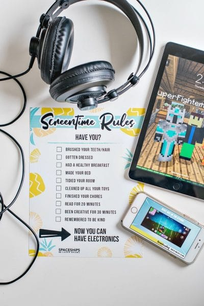 screen time rules free printable