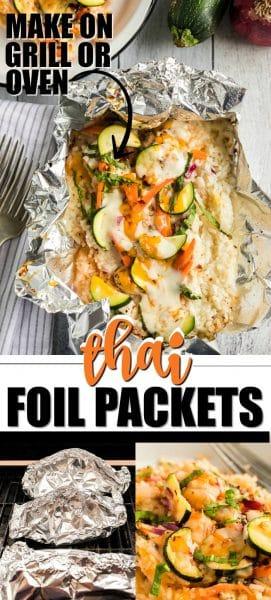 Thai Chicken Foil Packets Pinterest