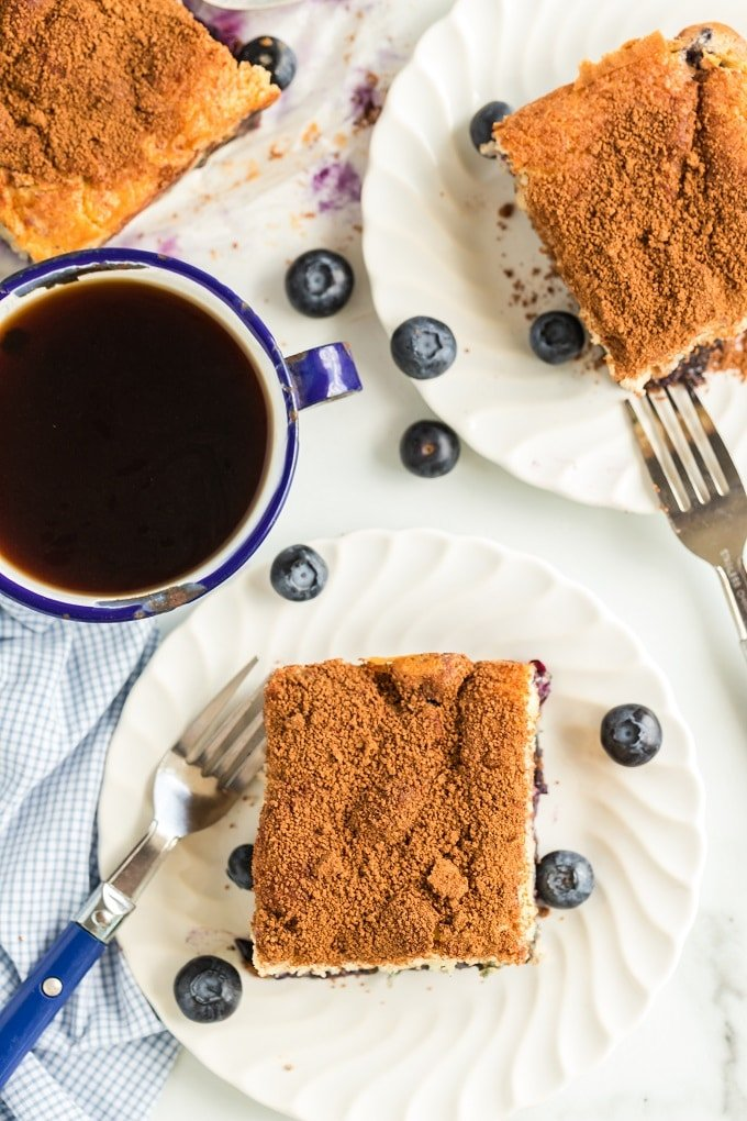 A piece of chocolate cake on a plate, with Blueberry and Bread