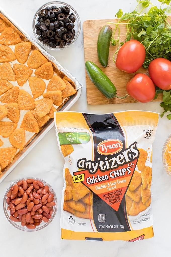 Chicken Chip Nachos Ingredients