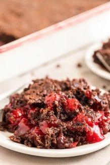 Chocolate Cherry Dump Cake Featured