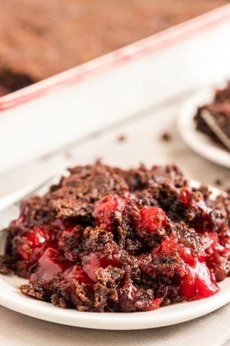 Chocolate Cherry Dump Cake Featured