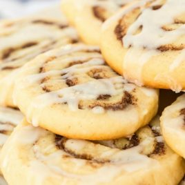 A close up of food, with Cinnamon and Cookie