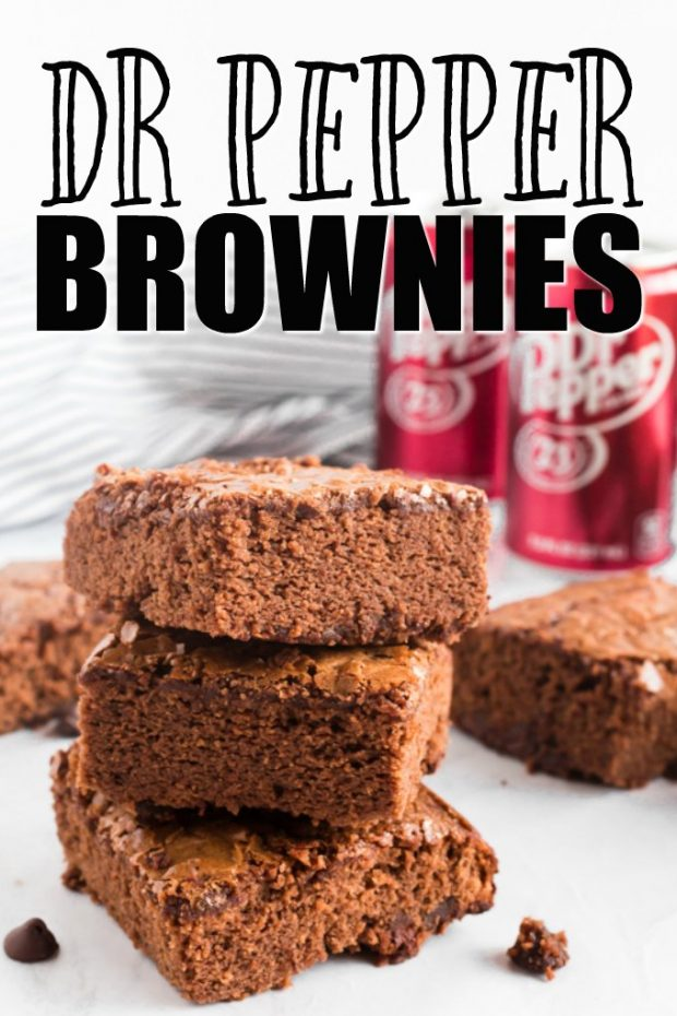 stack of dr pepper brownies
