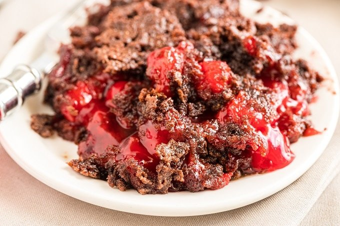 Easy Chocolate Cherry Dump Cake Recipe